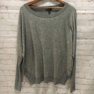 Valette lightweight gray boxy sweater small
